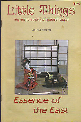 Little Things the First Canadian Miniaturist Digest Spring 1982 Volume 1 #3