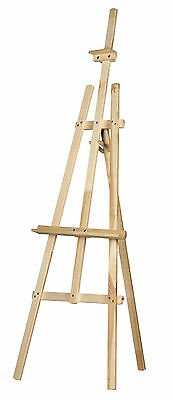 STUDIO EASEL 6ft (1800MM HIGH) ARTIST ART CRAFT DISPLAY - PINE WOOD Wooden