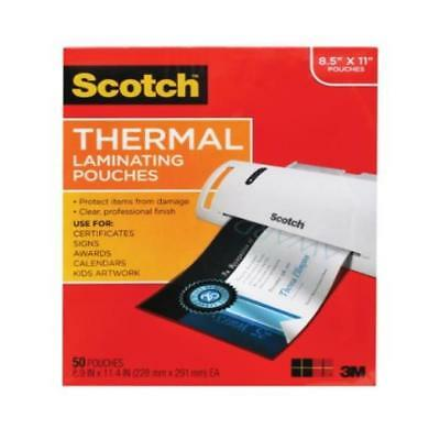 """Scotch 8 1/2"""" x 11"""" Thermal Laminating Pouches 50 Count"""