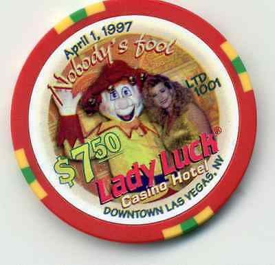 LAS VEGAS LADY LUCK  APRIL  FIRST 1997 NOBODY'S FOOL  $7.50  CHIP