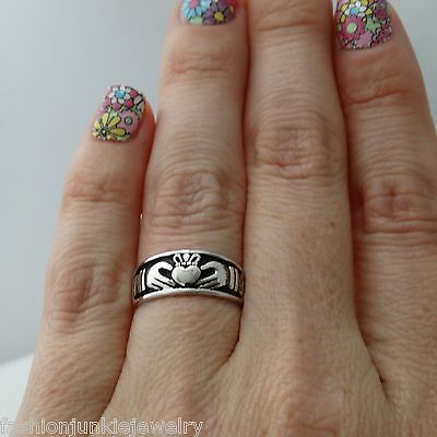 Claddagh Ring - 925 Sterling Silver - Irish Jewelry NEW Love Loyalty Friendship
