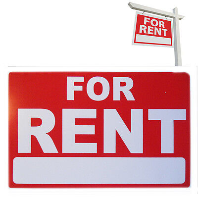A4 For Rent Sign Board Label Plastic Waterproof Board Car, Van, House, Business