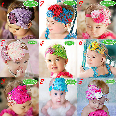 Top Baby Girl Infant Toddler Feather Headband Hair Band Girls Hair Accessories