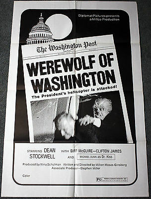 Werewolf of Washington One Sheet Movie Poster Horror Wolfman Monster Sci-Fi Wolf