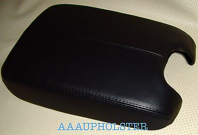 FITS 2008-2012 HONDA ACCORD BLACK REAL LEATHER CONSOLE LID ARMREST COVER