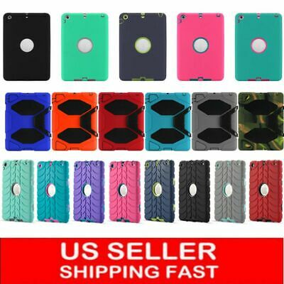 Hybrid Heavy Duty Shockproof Case Cover Stand for Apple iPad 2 3 4 ipad air+pen