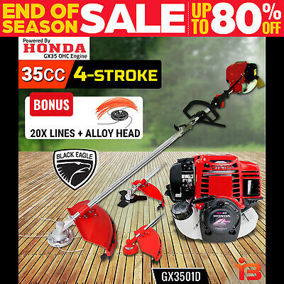 NEW Black Eagle Brushcutter POWERED by HONDA GX35  Brush Cutter  WHIPPER SNIPPER