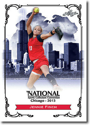 JENNIE FINCH - 2013 Leaf National Convention PROMO  USA Olympic Softball Card
