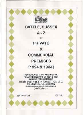 Battle, Sussex 1924 & 1934 [Kelly's Directory] A4