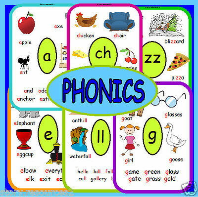 69 PHONICS FLASH CARDS ON CD LETTERS AND SOUNDS LITERACY EYFS KS1 KS2  posters