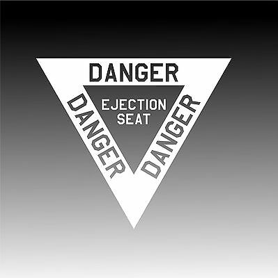 Ejection Seat Decal Authenic Aviation Pilot Sticker B