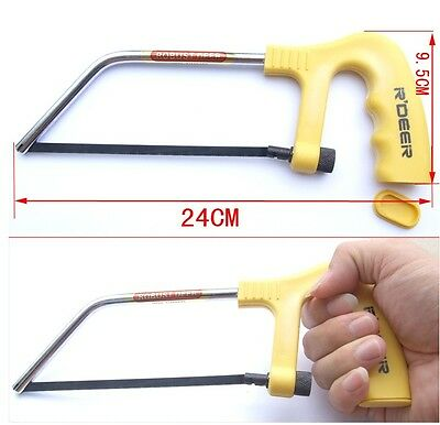 2 sets Hand-held MINI Bench Cutting Jewelers Candle Wood Hand Saw Frame Tools