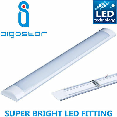 Bright 4FT LED Batten Tube Linear Light Slim Ceiling Surface Mounted Daylight