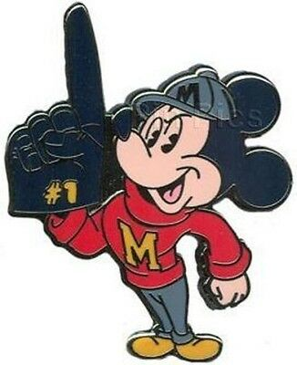 COLLEGIATE MASCOT MICKEY MOUSE Wearing Red Varsity Sweater DISNEY PIN