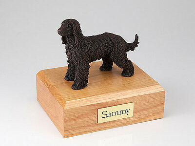 Bronze Afghan Hound Pet Funeral Cremation Urn Avail in 3 Diff Colors & 4 Sizes