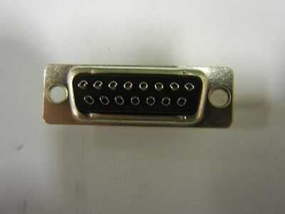 AMP: 571-5-747908-2 - Connector, D-Sub, 15 Pin, Male, Solder Cup Contacts