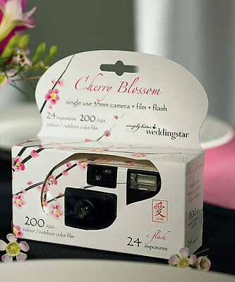 12 Cherry Blossom Single Use Spring Wedding Supplies Party Disposable Cameras