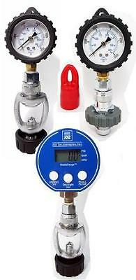 Decanting or blending. For accurate checking you need a digital gauge.