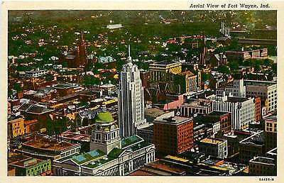 IN-FORT WAYNE-AERIAL VIEW-COURT HOUSE-Q7333