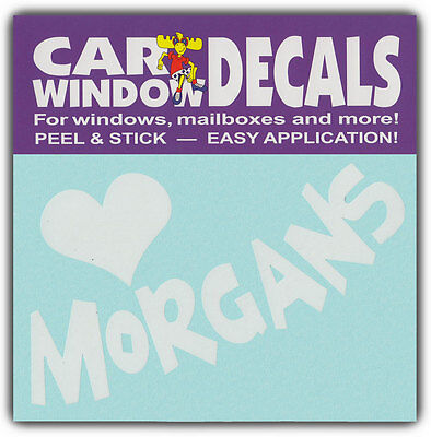 Car Window Decals: I Love Morgans | Horses Lover | Stickers Cars Trucks Glass