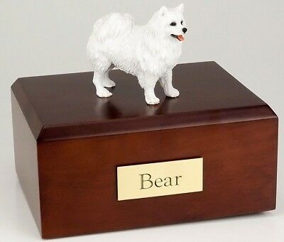 American Eskimo Pet Funeral Cremation Urn Avail in 3 Different Colors & 4 Sizes