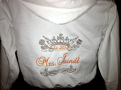 Personalized Future Bridal Bride Mrs.Soon to be Hoodie Sweatshirt Honeymoon