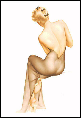 Vintage Pin Up Girls Retro Burlesque Erotic Prints & Posters A3,A4 Sizes