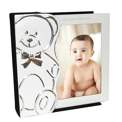 PERSONALISED ENGRAVED BABY PHOTO ALBUM CHRISTENING NEWBORN BOY or GIRL GIFT IDEA