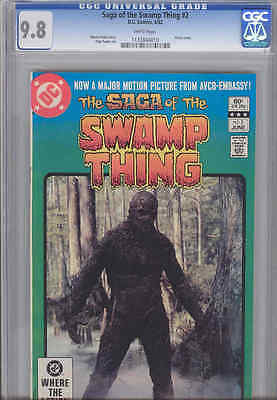 Saga of Swamp Thing #2 CGC 9.8 W 1982  DC Comic with photo Cover from Movie