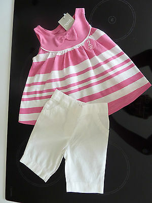 NEXT Gorgeous Little Pink Stripe Outfit 3-6 Months NWT