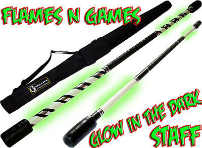 Flames N Games Pro GLOW In The DARK Practice Staff  (Fire Staff, Staves) + BAG!