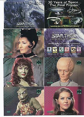 Star Trek ( 30 Years Of ):Reflections Of The Future Phase Two.complete base set
