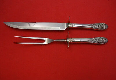 Crown Princess by International Sterling Silver Roast Carving Set 2pc HHWS  14""