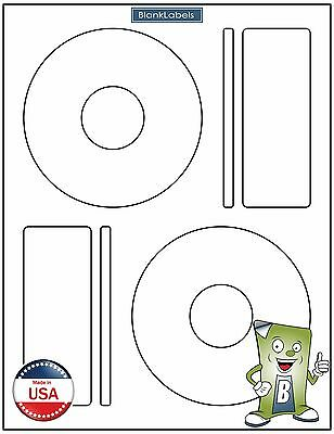 200 CD/ DVD Laser and Ink Jet Labels Compatible to Memorex 100 Sheets Large Core