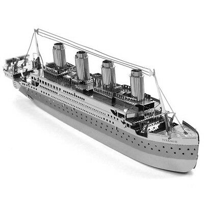 Fascinations Metal Earth Works 3D Laser Cut Steel Model Kit Titanic Ship Silver