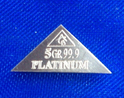 ACB 2 Pyramids x1 Palladium & x1 Platinum 5GRAIN BULLION MINTED BAR 99.9 Pure