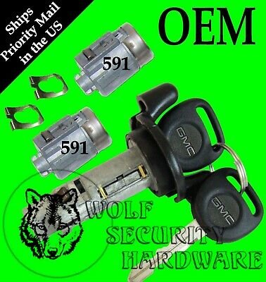 GMC Sonoma Jimmy 2001 OEM Ignition Key Switch Cylinder & Door Lock Set 2 Keys