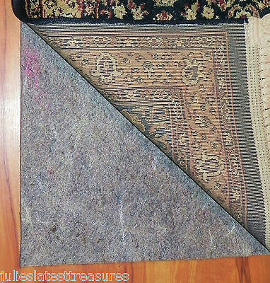 "AREA RUG PAD NON-SKID 8'10""x11'10"" (9x12) Durable Reversible Hard Surface/Carpet"