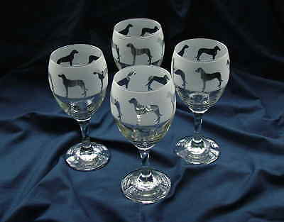Great Dane Dog  gift Wine Glasses set of four.