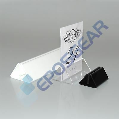 10 70mm Clear Menu Card Showcard Name Place Table Setting Display Stand Holders