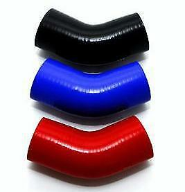 45 Degree Elbow  Silicone Hose Choice of Diameter and Colour HUGE SELECTION