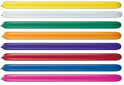 Pack of 20 Qualatex Modelling Balloons - Jewel Colours - 160Q + 260Q + 350Q