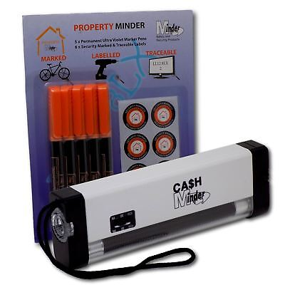 Portable Property Marking Security Kit Ultra Violet Lamp & UV Marker Ink Pens