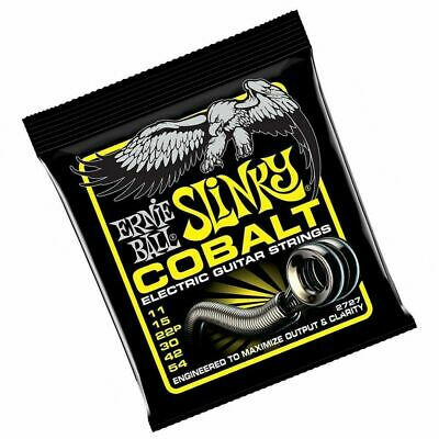 Ernie Ball 2727 Cobalt Beefy Electric Guitar Strings 11 - 54 Slinky String Set