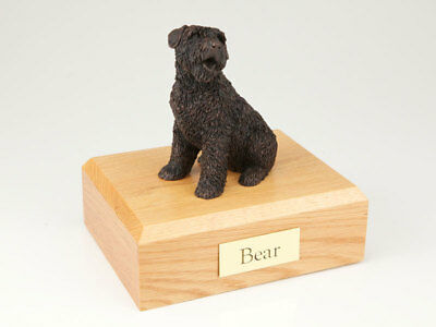 Bouvier Pet Funeral Cremation Urn Available in 3 Different Colors & 4 Sizes