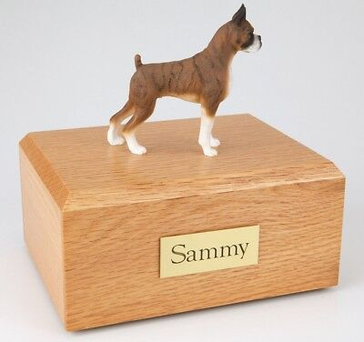 Boxer Brindle Ears Up  Pet Funeral Cremation Urn Avail in 3 Diff Colors & 4 Size