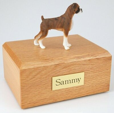 Boxer Brindle Pet Funeral Cremation Urn Available in 3 Diff Colors & 4 Sizes