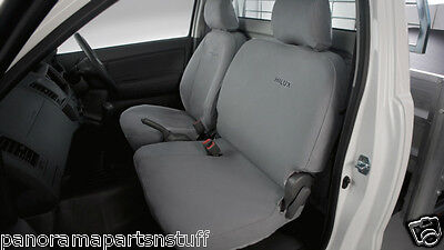 Toyota Hilux Front Canvas Seat Covers Bucket Bench Seats Workmate GENUINE NEW