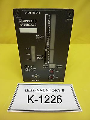 AMAT Applied Materials 0190-36511 DeviceNet I/O Block DIP294 Used Working