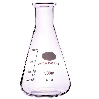 CONICAL FLASK ERLENMEYER FLASK, LABORATORY FLASK,  NARROW NECK FLASK - 500ml
